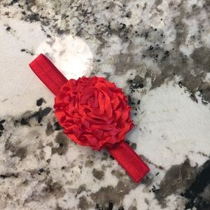 Other - 3 $5 Red Flower headband 3-6 Month